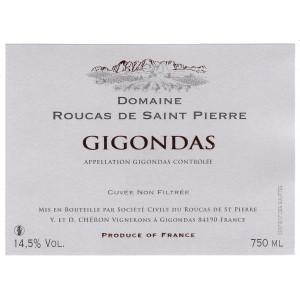 Domaine du Roucas de St Pierre Gigondas 2017 (6x75cl)