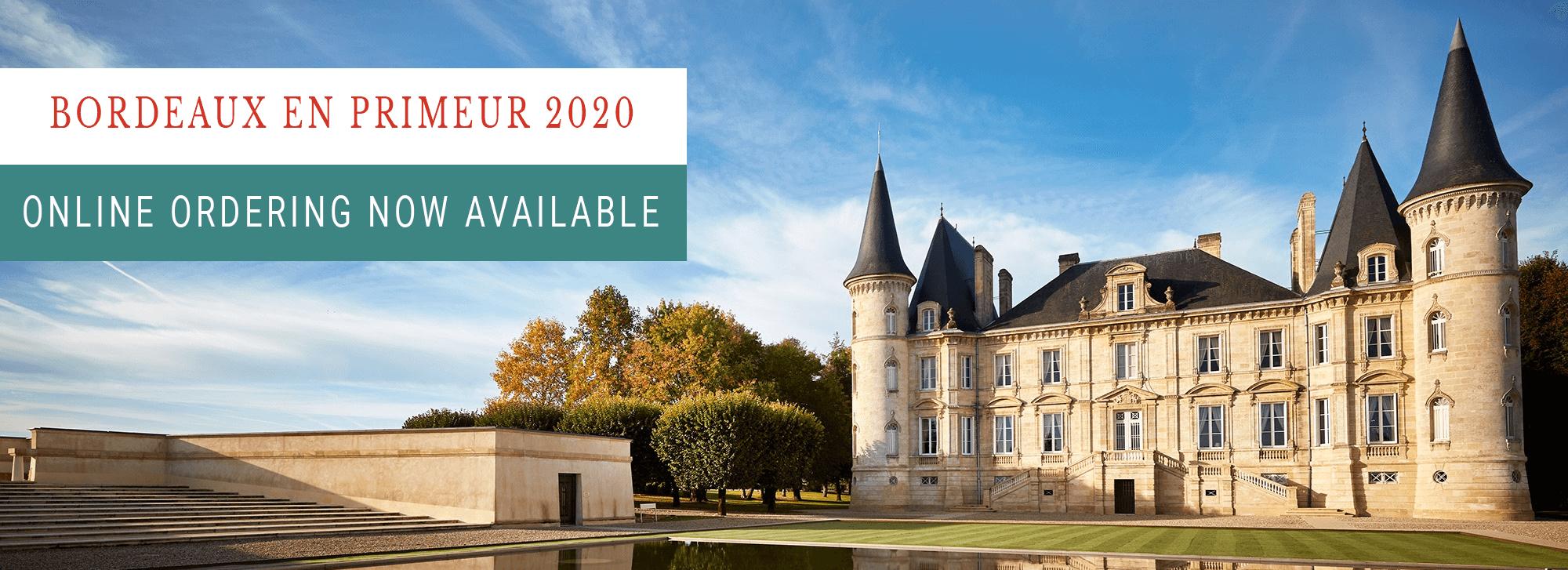 Bordeaux 2020 En Primeur Pre-order offer banner